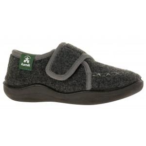 Papuci de casă Kamik Cozylodge Black Charcoal